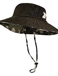 Недорогие -Шляпа Boonie 1 ед. Компактность С защитой от ветра Защита от излучения Удобный камуфляж Хлопок Осень для Муж. Жен. Походы / туризм / спелеология Путешествия Темно-синий