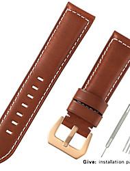 Недорогие -Настоящая кожа / Шерсть теленка Ремешок для часов Ремень для Черный / Синий / Коричневый 20cm / 7.9 дюймы 2.2cm / 0.9 дюймы / 2.4cm / 0.94 дюймы / 2.6cm / 1.02 дюймы