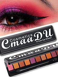 Недорогие -бренд cmaadu 10 цветовых палитр теней для век с кисточкой мода матовый жемчуг флэш водонепроницаемый прочный макияж глаз