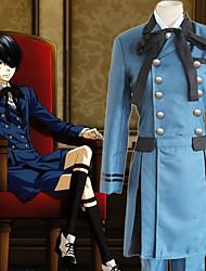 Недорогие -Вдохновлен Тёмный дворецкий Ciel Phantomhive Аниме Косплэй костюмы Японский Косплей Костюмы Однотонный Длинный рукав Косыночная повязка / Рубашка / Кофты Назначение Муж.