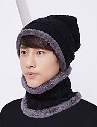 Недорогие -Муж. Классический Широкополая шляпа Полиэстер,Однотонный Осень Зима Темно синий Серый Хаки