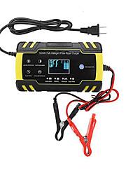 Недорогие -enusic 12 / 24v 8a сенсорный экран импульсный ремонт зарядное устройство жк-аккумулятор для автомобиля мотоцикла свинцово-кислотных аккумуляторов agm гель мокрый - us plug