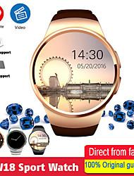 Недорогие -KW18 умные часы мужчины поддерживают SIM-карты TF Bluetooth-гарнитура вызов сердечного ритма шагомер спортивные режимы SmartWatch для Android IOS