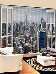 Недорогие -3D принт Конфиденциальность 2 шторы Занавес Гостиная   Curtains