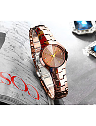 Недорогие -Жен. Кварцевые Синтетический алмаз Мода Элегантный стиль Серебристый металл Розовое золото Нержавеющая сталь Китайский Кварцевый Серебряный Розовое Золото Защита от влаги Повседневные часы 30 m