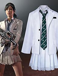 Недорогие -Вдохновлен Поля битвы игрока Косплей Аниме Косплэй костюмы Японский Косплей Костюмы Пальто / Блузка / Юбки Назначение Жен.