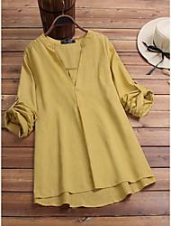 Недорогие -Жен. Винтаж Классический Рубашка Платье - Однотонный Выше колена