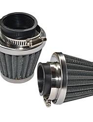 Недорогие -2 шт. 42 мм двухслойная сетка гриб дизайн воздушный фильтр запасные части фильтрации общего применения калибр42 мм package2 комплекты