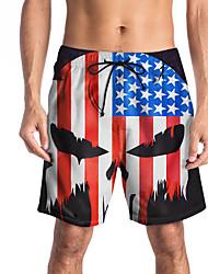 billige -Herre Basale Shorts Bukser - Dødningehoveder Sort US40 / UK40 / EU48 US42 / UK42 / EU50 US44 / UK44 / EU52