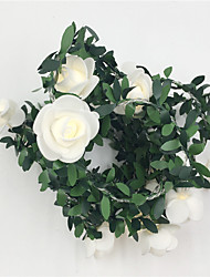 Недорогие -Гибкие светодиодные полосы 3м 20 светодиодов теплого белого цвета. Батареи питаются от фонарей для свадебных торжеств.
