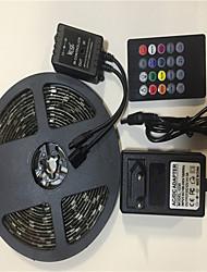 Недорогие -5 метров Гибкие светодиодные ленты / Наборы ламп / RGB ленты 150 светодиоды SMD5050 1 адаптер x 12V 3A / 20-клавишный музыкальный звуковой контроллер RGB Творчество / Для вечеринок / Декоративная