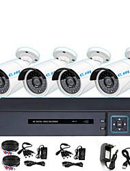Недорогие -8-канальный коаксиальный HD DVR-мониторинг комплект 1080p инфракрасного ночного видения мониторинг мобильного телефона интегрированная машина