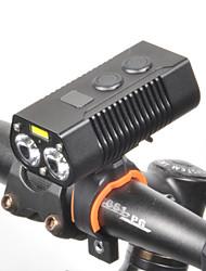 Недорогие -Светодиодная лампа Велосипедные фары Передняя фара для велосипеда LED Велоспорт Водонепроницаемый Вращающийся Быстросъемный 18650 650 lm Перезаряжаемая батарея Белый Велосипедный спорт