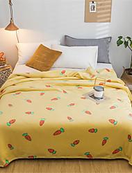 Недорогие -Одеяла, Цветочный принт / С принтом Полиэстер Мягкость удобный одеяла