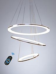 Недорогие -светодиодная ациклическая люстра / современное интеллектуальное светодиодное освещение для гостиной, спальни, кафе-бара теплый белый / белый / с возможностью затемнения с пультом дистанционного