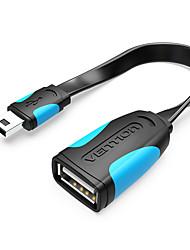 Недорогие -Изобретение мини-USB OTG-кабель 0,1 м мужской мини-USB к женскому USB-адаптер OTG для GPS камеры мобильного телефона планшета U диск мышь