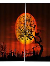 Недорогие -Горячая внешняя торговля 3d печать высококачественные шторы утолщение плотные ткани для гостиной хэллоуин тема 100% полиэстер занавес