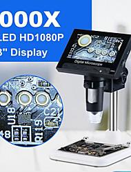 Недорогие -1000x 2.0mp usb цифровой электронный микроскоп dm4 4.3lcd дисплей VGA микроскоп с 8 светодиодной подставкой для ремонта материнской платы pcb