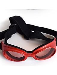 Недорогие -Собаки Орнаменты Солнечные очки Одежда для собак Простой Лолита Черный Белый Красный Другие материалы ПУ (полиуретан) Костюм Назначение Пудель Той-пудель Все сезоны Универсальные Высокое качество