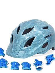 Недорогие -Детские Мотоциклетный шлем BMX Шлем 28 Вентиляционные клапаны прибыль на акцию ABS + PC Виды спорта На открытом воздухе Велосипедный спорт / Велоспорт - Синий Универсальные