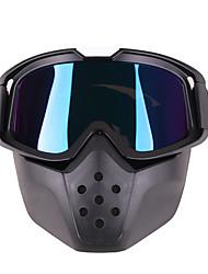 Недорогие -очки для мотоциклистов в стиле ретро очки спортивные состязания на открытом воздухе с защитой от песка со съемной рамой фильтра для мотоцикла цвет черный черный