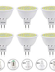 Недорогие -6шт 6 W Точечное LED освещение 600 lm E14 GU10 MR16 MR16 60 Светодиодные бусины SMD 2835 Новый дизайн Тёплый белый Белый 220-240 V 110-120 V