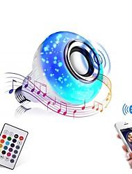 Недорогие -bluetooth лампочка динамик 12 Вт умный светодиодный музыка играть лампы e27 e26 b22 basecolorfulwireless rgb светодиодные лампочки с 24 клавишами дистанционного управления для украшения бара дома ktv