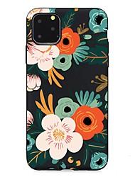 Недорогие -чехол для яблока iphone 11 / iphone 11 pro / iphone 11 pro max ультратонкий / матовый / рисунок задняя крышка цветок тпу мягкий