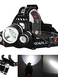 Недорогие -Boruit® RJ-3000 Налобные фонари Фары для велосипеда 3000/5000 lm Светодиодная лампа LED 3 излучатели 4.0 Режим освещения с зарядным устройством Перезаряжаемый ударный корпус / Алюминиевый сплав