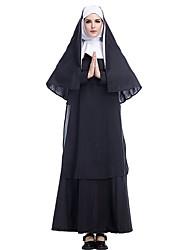 Недорогие -монахиня Костюм Жен. Религия Хэллоуин Выступление Косплэй костюмы Тематическая вечеринка костюмы Жен. Танцевальные костюмы Полиэстер Планка