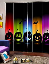 Недорогие -Новое поступление цифровая печать красочные тыквы лампы роскошные окна занавес для партии hallowmas декор