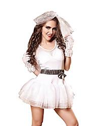hesapli -Kadın's Prenses Seksi Kıyafetler Elbise Eldivenler Başlık / Spandex