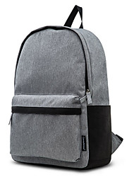 cheap -Large Capacity Polyester Zipper Floating Backpack Solid Color Daily Dark Grey / Light Grey