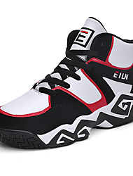 cheap -Men's Comfort Shoes PU Spring / Fall Basketball Shoes Black / White / Black / Red / White