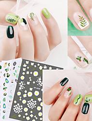 Недорогие -5 pcs 3D наклейки на ногти Кактус / ботанический маникюр Маникюр педикюр Креатив Стиль / тропический Повседневные