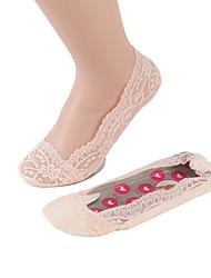 Недорогие -Жен. Тонкая ткань Носки - Однотонный 15D Светло-коричневый Белый Розовый Один размер