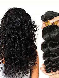 Недорогие -3 Связки Перуанские волосы Свободные волны Не подвергавшиеся окрашиванию Необработанные натуральные волосы Человека ткет Волосы Удлинитель Пучок волос 8-28 дюймовый Нейтральный Ткет человеческих волос