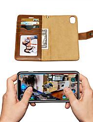 Недорогие -MUSUBO Anti-Fall бизнес высокого класса флип кожаный чехол для телефона Apple Iphone Iphone XS / Iphone X / Iphone XR / Iphone XS Макс магнитный съемный классический полный корпус автомобильный корпус