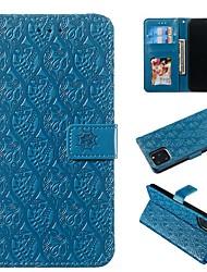 Недорогие -чехол для apple iphone 11 / iphone 11 pro / iphone 11 pro max кошелек / визитница / с подставкой для всего тела чехлы из искусственной кожи сплошного цвета