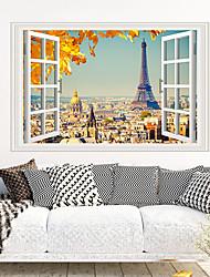 Недорогие -стикеры на стену Эйфелевой башни - стикеры на стенах животных животные / комната для изучения ландшафта / офис / столовая / кухня