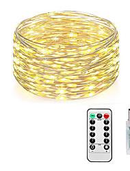 Недорогие -Loende сказочные огни подключить в 8 режимах 10 м 100 светодиодные шнуры света USB с адаптером дистанционного таймера водонепроницаемый декоративные огни для спальни патио рождественская свадьба