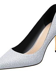 ieftine -Pentru femei Tocuri Toc Stilat Vârf ascuțit PVC / PU Primăvara & toamnă Argintiu / Gri