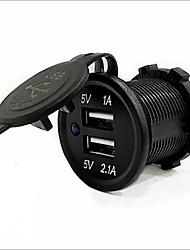 Недорогие -5v 3.1a двойной usb-порт водонепроницаемый автомобильное зарядное устройство быстрая зарядка розетка для ipad iphone автомобиль мотоцикл лодка мобильные телефоны светодиодные