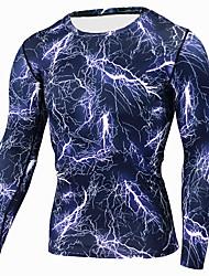Недорогие -Муж. Футболка для бега 3D-печати Бег Фитнес Рубашка Спортивная одежда Дышащий Быстровысыхающий Эластичность