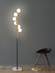 Недорогие -скандинавский современный светодиодный стеклянный шарик стоящий светильник торшер потрескивание большое внутреннее освещение искусство спираль простой стеклянный шарик вертикальный