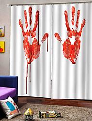 Недорогие -3d цифровая печать ладони печати занавески для душа водонепроницаемый занавески против морщин ткани на заказ готовые для декора