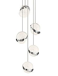 Недорогие -светодиодный подвесной светильник в стиле боччи / рассеянный свет сделай сам свет столовая новый дизайн регулируемый / теплый белый / белый / 5 ламп