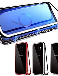 Недорогие -Кейс для Назначение SSamsung Galaxy Galaxy S10 / Galaxy S10 Plus Магнитный Чехол Однотонный Закаленное стекло