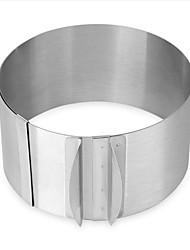 Недорогие -1шт Нержавеющая сталь Регулируется Своими руками Повседневное использование Для торта Круглый Формы для пирожных Инструменты для выпечки
