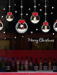 Недорогие -рождественский мультфильм оконная пленка&усилитель; наклейки украшения с рисунком / рождественские геометрические / персонаж ПВХ (поливинилхлорид) стикер окна / смешные